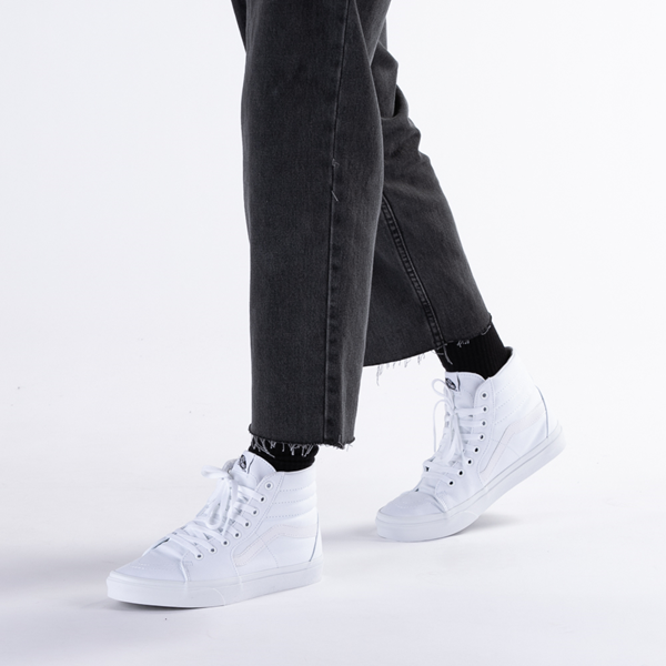 alternate view Vans Sk8 Hi Skate Shoe - WhiteB-LIFESTYLE1