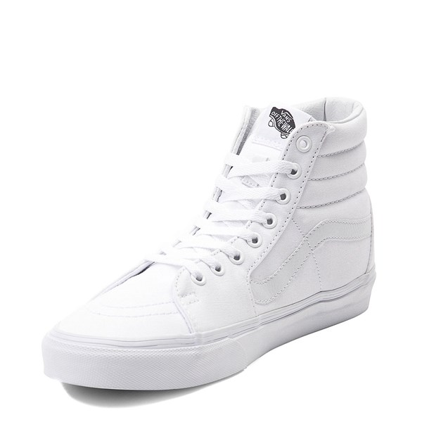 alternate view Vans Sk8 Hi Skate Shoe - WhiteALT3