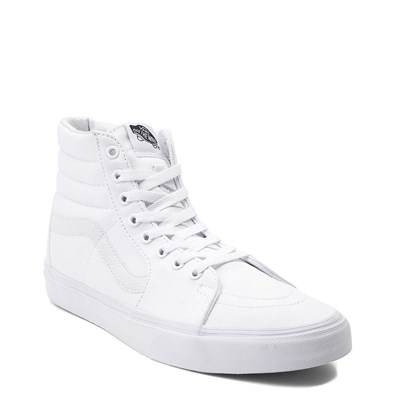 Alternate view of White Vans Sk8 Hi Skate Shoe