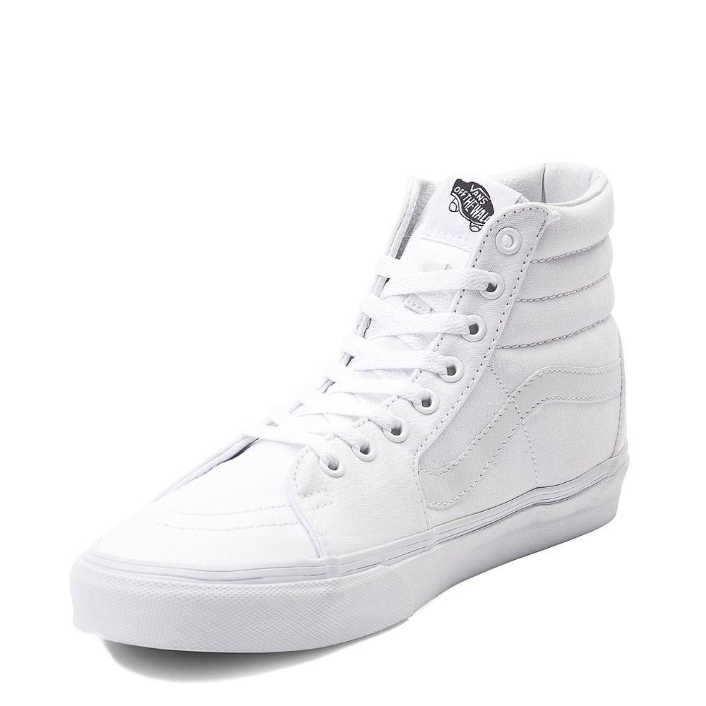 Vans Sk8 Hi Skate Shoe - White   Journeys