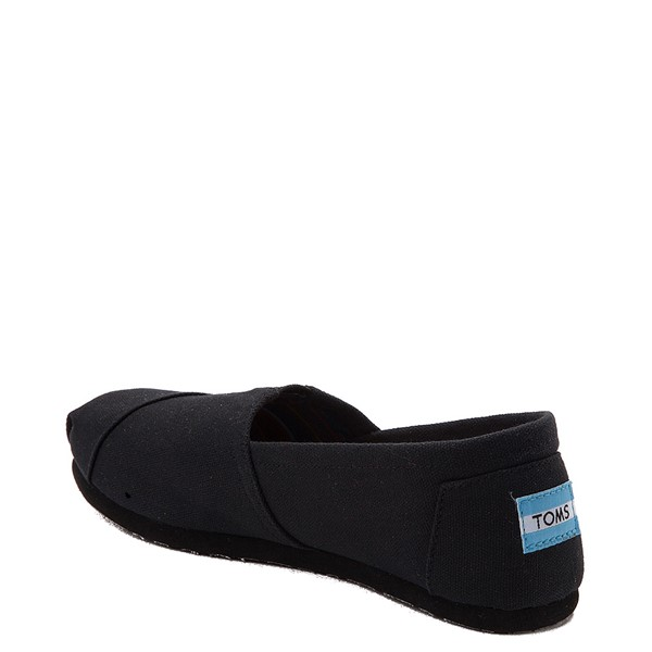 alternate view Womens TOMS Classic Slip On Casual Shoe - Black / BlackALT1