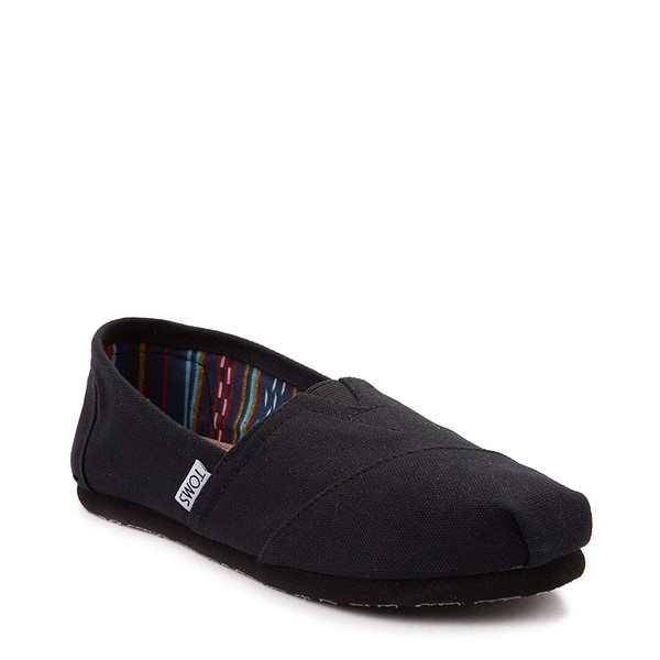 alternate view Womens TOMS Classic Slip On Casual Shoe - Black / BlackALT5
