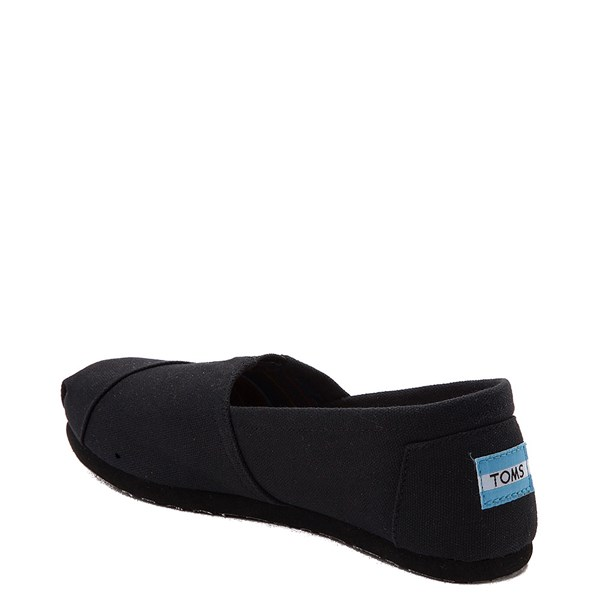 alternate view Womens TOMS Classic Slip On Casual Shoe - Black / BlackALT2
