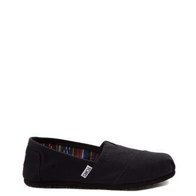 Main view of Womens TOMS Classic Slip On Casual Shoe - Black / Black