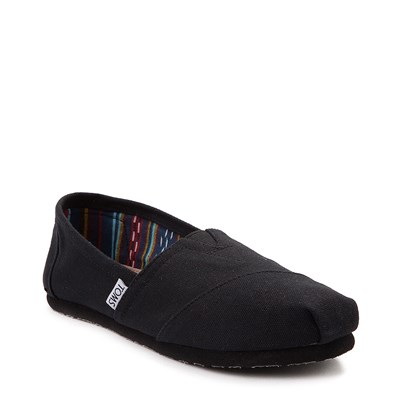 Alternate view of Womens TOMS Classic Slip On Casual Shoe - Black / Black