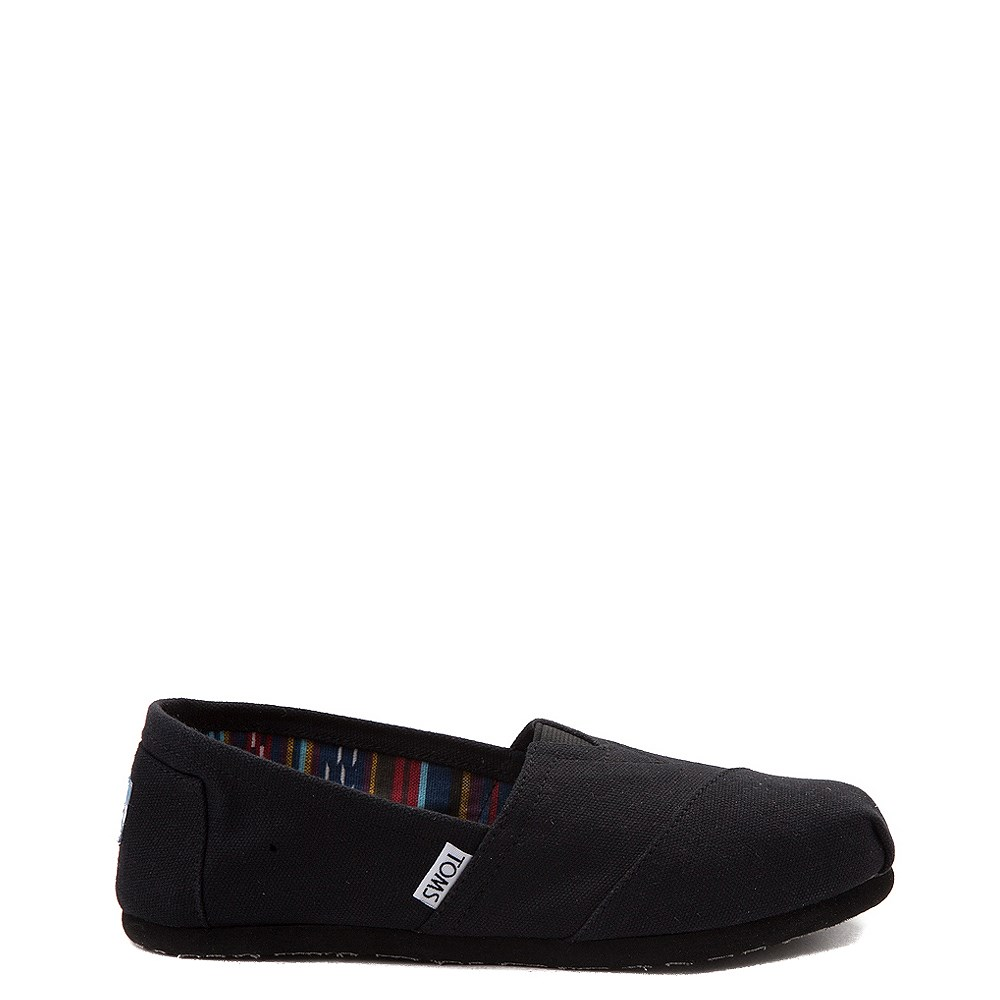 Womens TOMS Classic Slip On Casual Shoe - Black / Black