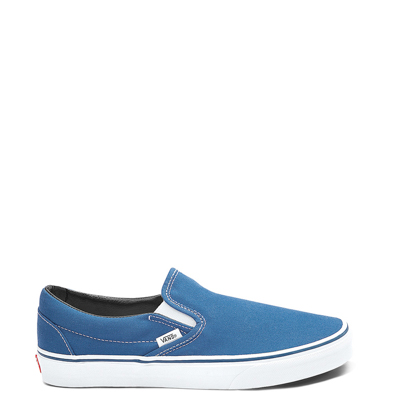 Main view of Navy Vans Slip On Skate Shoe