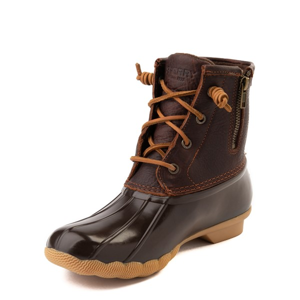 alternate view Womens Sperry Top-Sider Saltwater Boot - BrownALT2