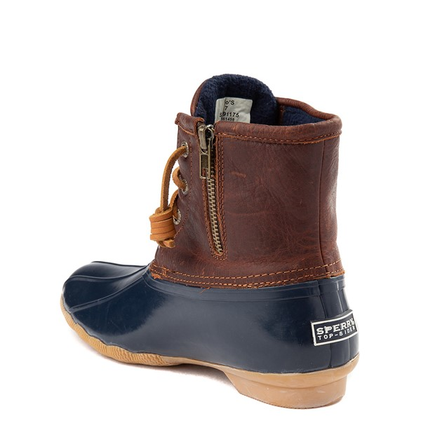 alternate view Womens Sperry Top-Sider Saltwater Boot - Brown / NavyALT1