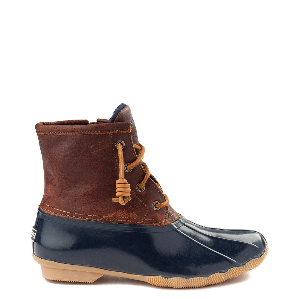 Womens Sperry Top-Sider Saltwater Boot - Brown / Navy