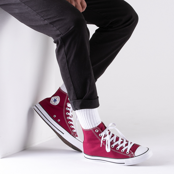 alternate view Converse Chuck Taylor All Star Hi Sneaker - MaroonB-LIFESTYLE1