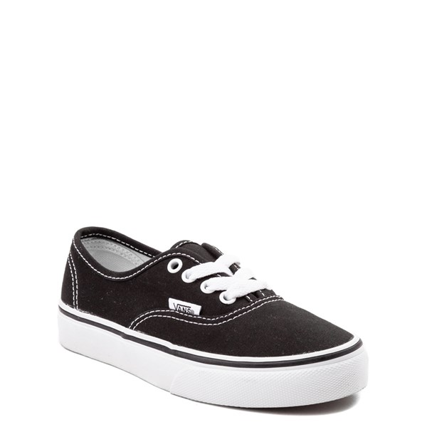 Alternate view of Vans Authentic Skate Shoe - Little Kid - Black