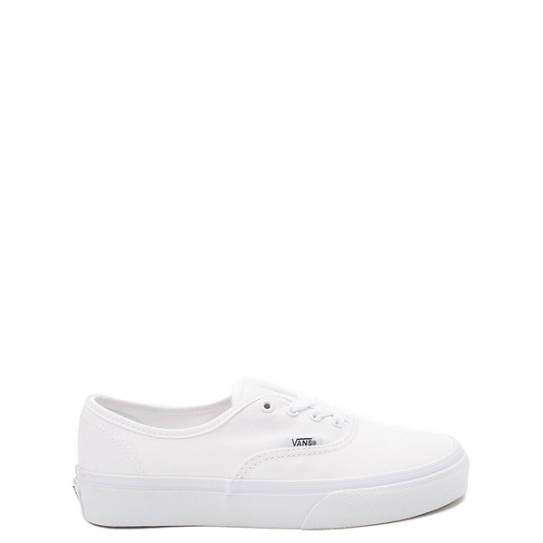 Main view of Vans Authentic Skate Shoe - Little Kid - White