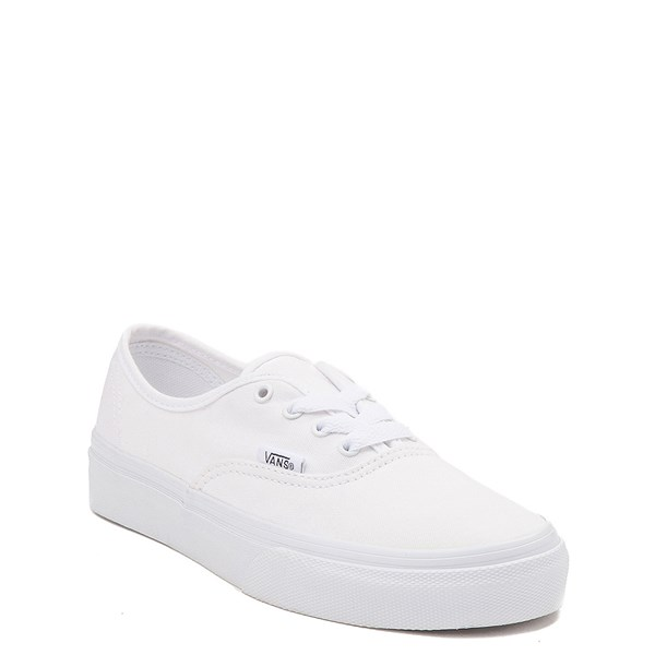 Alternate view of Vans Authentic Skate Shoe - Little Kid - White