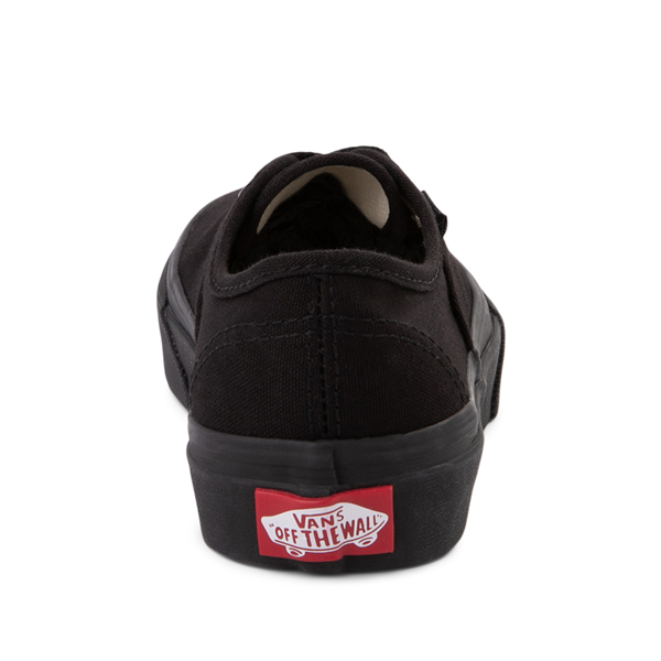alternate view Vans Authentic Skate Shoe - Little Kid - Black MonochromeALT4