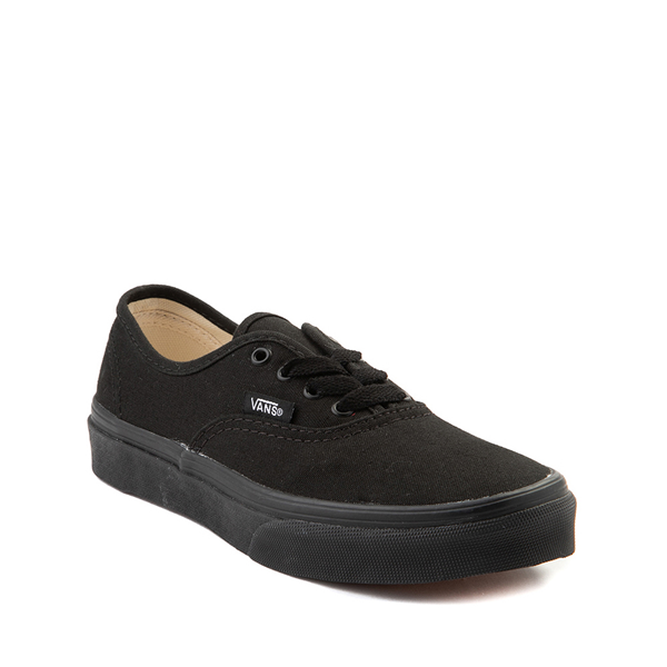 alternate view Vans Authentic Skate Shoe - Little Kid - Black MonochromeALT5