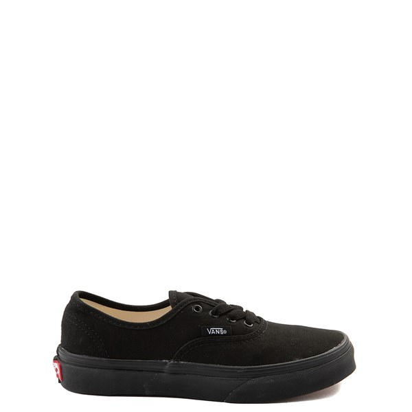 Default view of Vans Authentic Skate Shoe - Little Kid / Big Kid - Black Monochrome