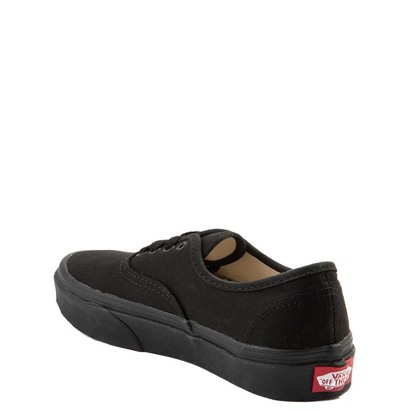 alternate view Vans Authentic Skate Shoe - Little Kid / Big Kid - Black MonochromeALT2