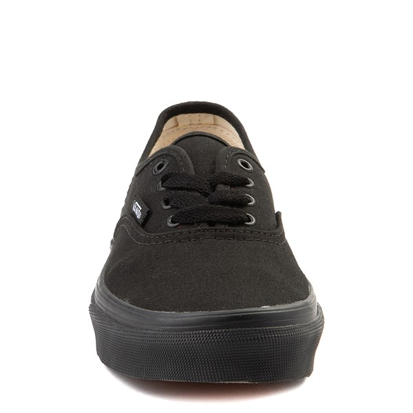 alternate view Vans Authentic Skate Shoe - Little Kid / Big Kid - Black MonochromeALT4