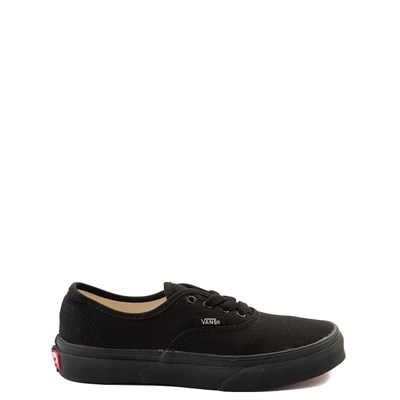 Main view of Vans Authentic Skate Shoe - Little Kid / Big Kid - Black Monochrome