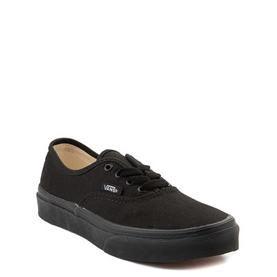Alternate view of Vans Authentic Skate Shoe - Little Kid - Black Monochrome