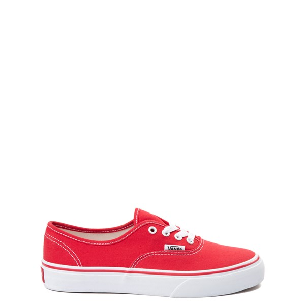 Main view of Vans Authentic Skate Shoe - Little Kid / Big Kid - Red