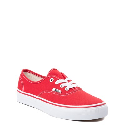 Alternate view of Vans Authentic Skate Shoe - Little Kid - Red