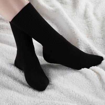 Alternate view of Womens Crew Socks 5 Pack - Black