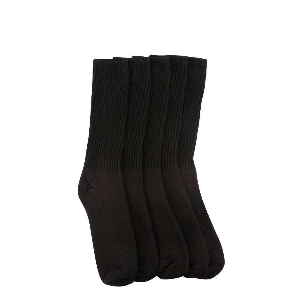 Womens Crew Socks 5 Pack - Black