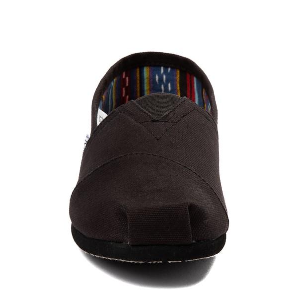 alternate view Mens TOMS Classic Slip On Casual Shoe - Black MonochromeALT4