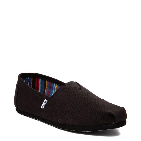 alternate view Mens TOMS Classic Slip On Casual Shoe - Black MonochromeALT5