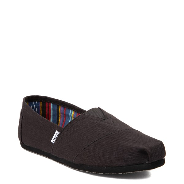 alternate view Mens TOMS Classic Slip On Casual Shoe - Black MonochromeALT1