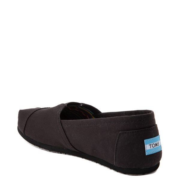 alternate view Mens TOMS Classic Slip On Casual Shoe - Black MonochromeALT2