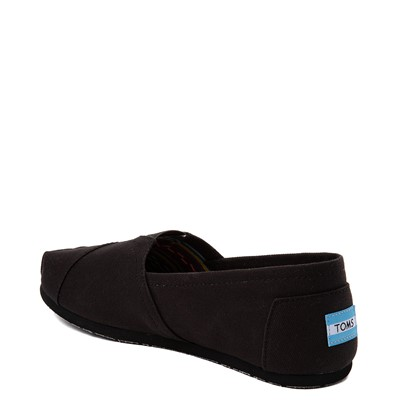 Alternate view of Mens TOMS Classic Slip On Casual Shoe - Black Monochrome