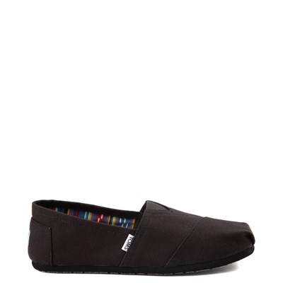 Main view of Mens TOMS Classic Slip On Casual Shoe - Black Monochrome