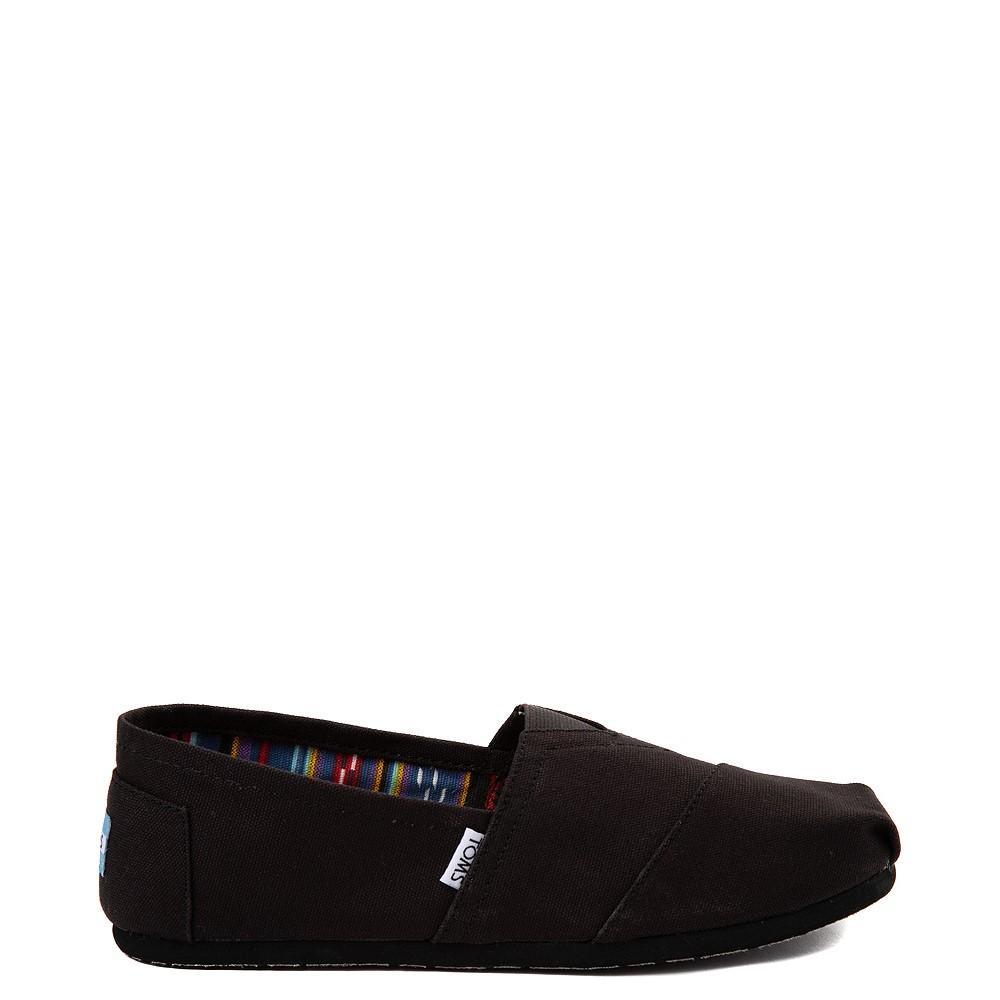 Mens TOMS Classic Slip On Casual Shoe - Black Monochrome