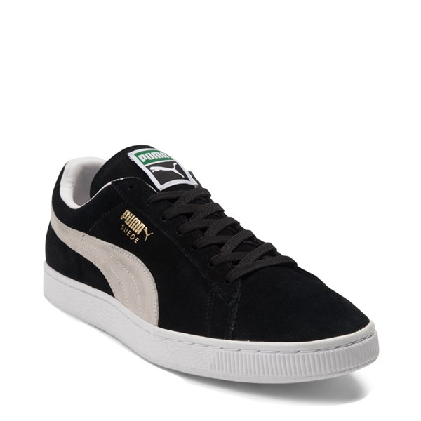 alternate view Mens Puma Suede Athletic Shoe - Black / WhiteALT1