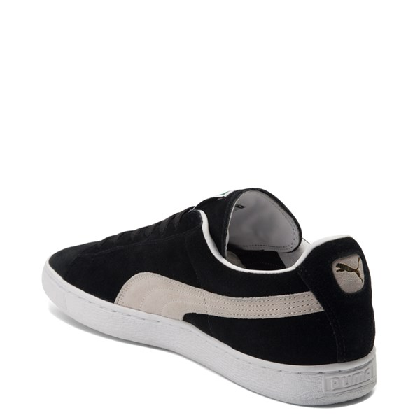 alternate view Mens Puma Suede Athletic Shoe - Black / WhiteALT2