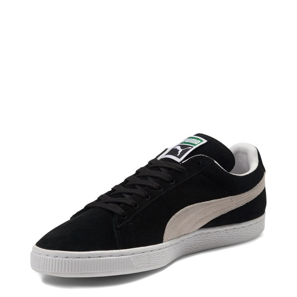 alternate view Mens Puma Suede Athletic Shoe - Black / WhiteALT3