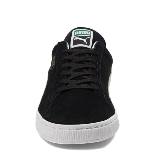 alternate view Mens Puma Suede Athletic Shoe - Black / WhiteALT4