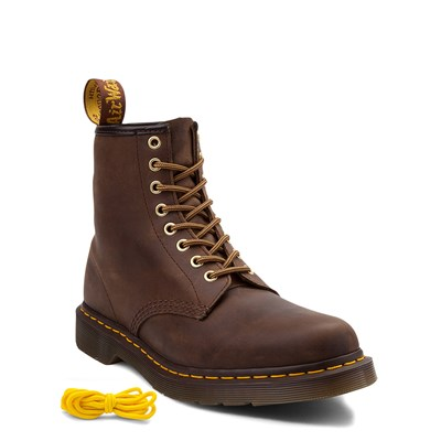 Alternate view of Dr. Martens 1460 8-Eye Aztec Crazy Horse Boot - Brown