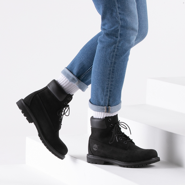 "alternate view Womens Timberland 6"" Premium Boot - BlackB-LIFESTYLE1"