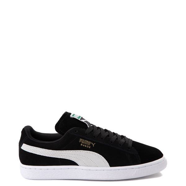 Womens Puma Suede Athletic Shoe - Black / White