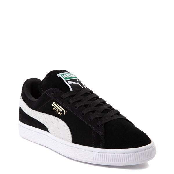 alternate view Womens Puma Suede Athletic Shoe - Black / WhiteALT1