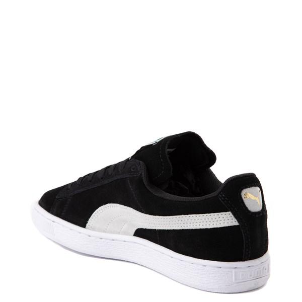 alternate view Womens Puma Suede Athletic Shoe - Black / WhiteALT2