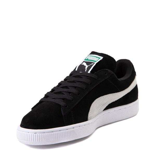 alternate view Womens Puma Suede Athletic Shoe - Black / WhiteALT3