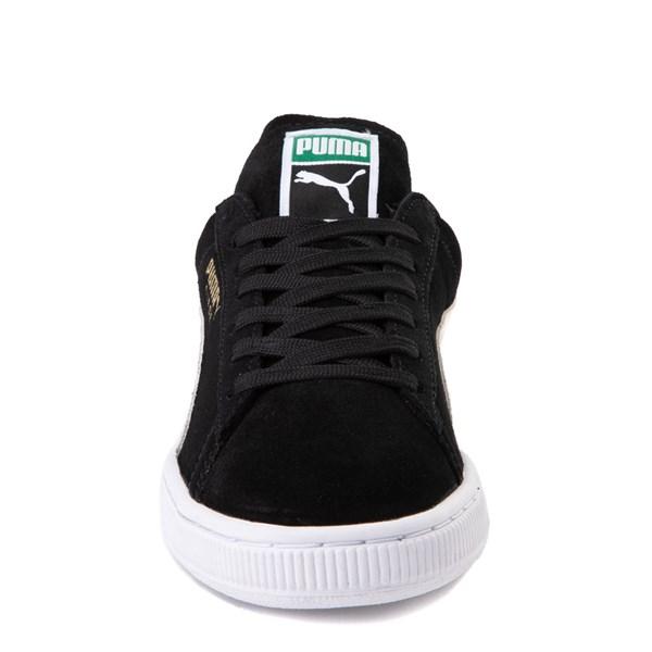 alternate view Womens Puma Suede Athletic Shoe - Black / WhiteALT4