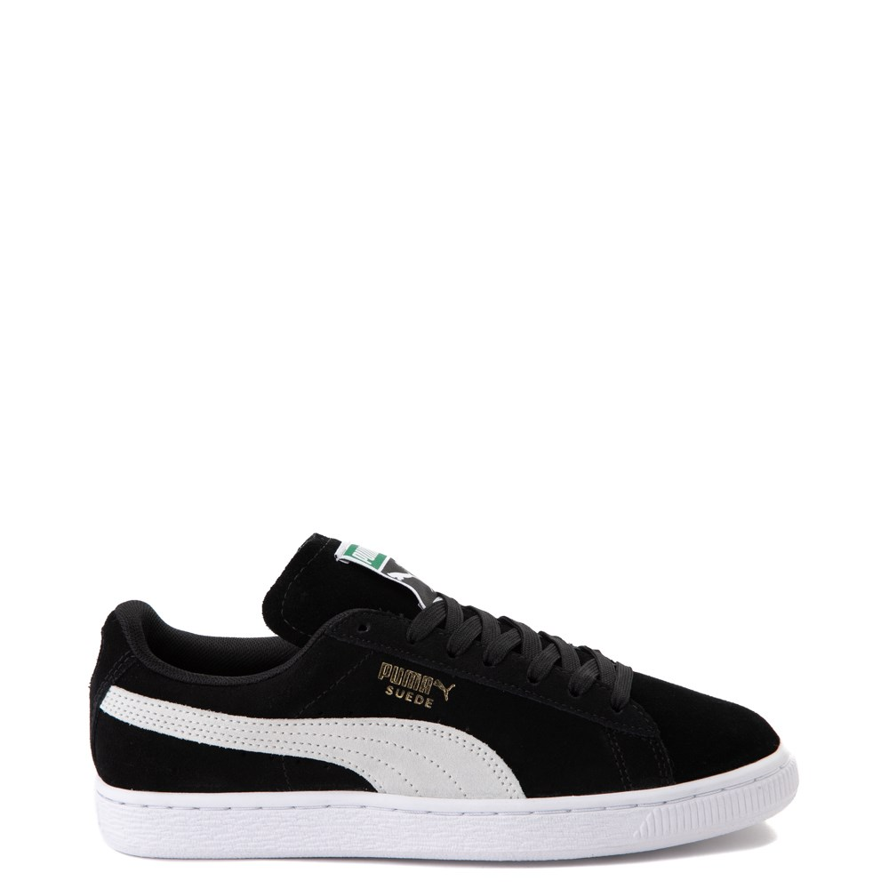 Womens Puma Suede Athletic Shoe - Black / White