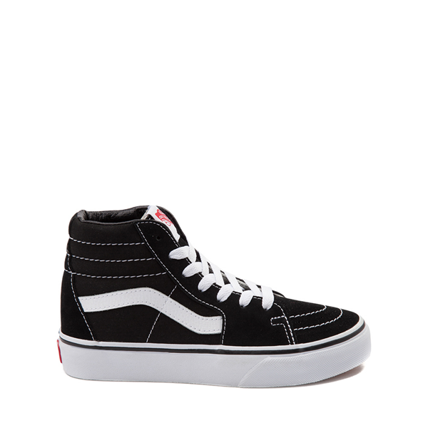 Main view of Vans Sk8 Hi Skate Shoe - Little Kid / Big Kid - Black