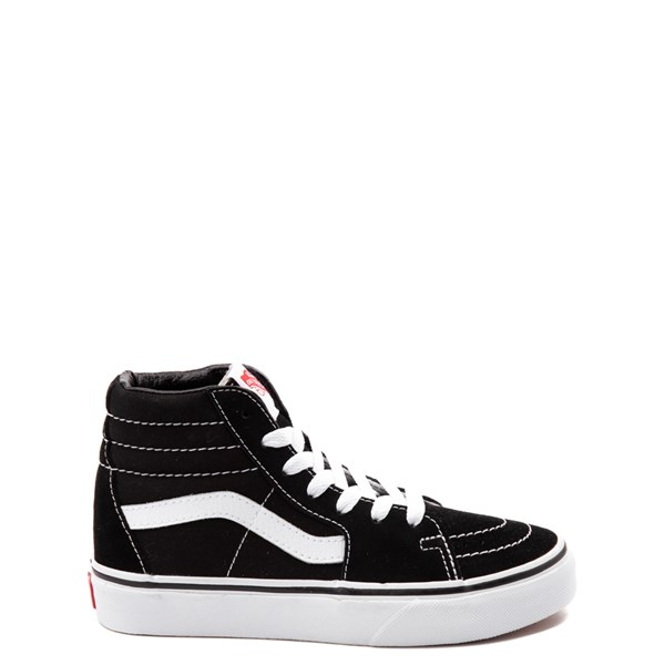Default view of Vans Sk8 Hi Skate Shoe - Little Kid / Big Kid - Black / White
